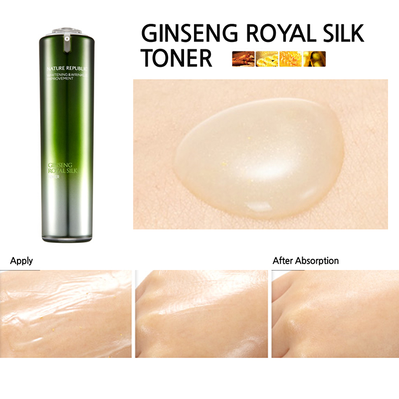 Nước Hoa Hồng Nature Republic Ginseng Royal Silk Toner 2