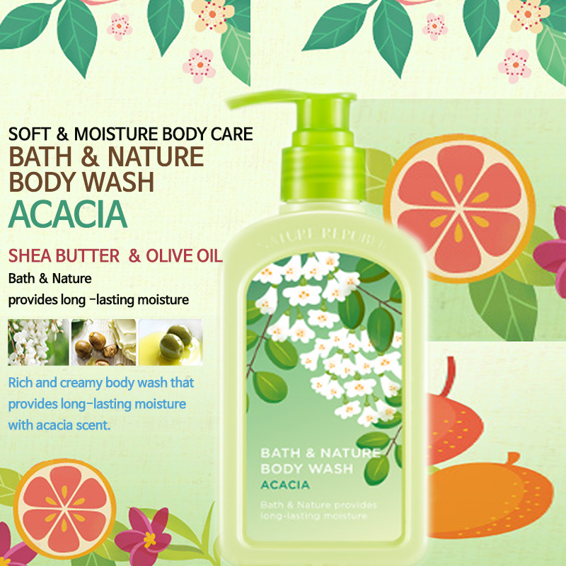 Sữa tắm Nature Republic Bath & Nature Acacia Body Wash 1