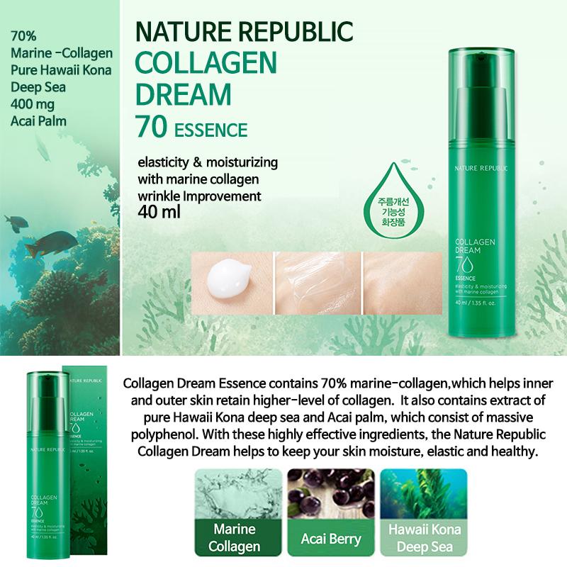 Kết quả hình ảnh cho Nature Republic Collagen Dream 70 Essence